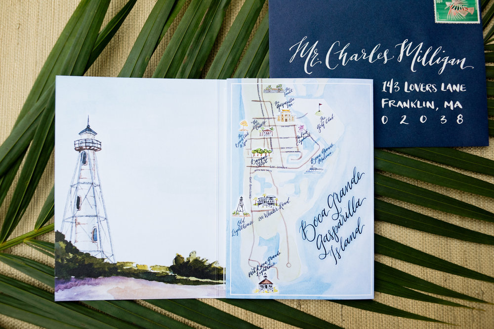 Boca Grande Gasparilla Island Wedding Map