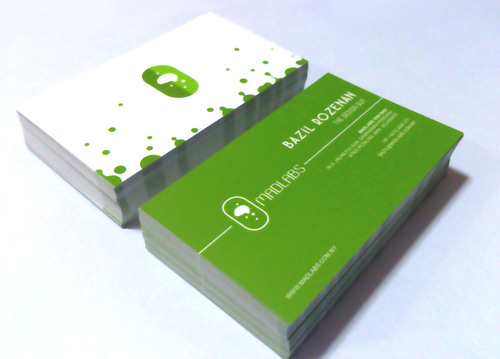 Name  cards, front and back
