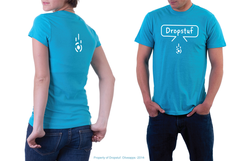 Some t-shirts were made for the launching of the Dropstuf app. Basically, the team thought that it would be cool to see their logo on a t-shirt.