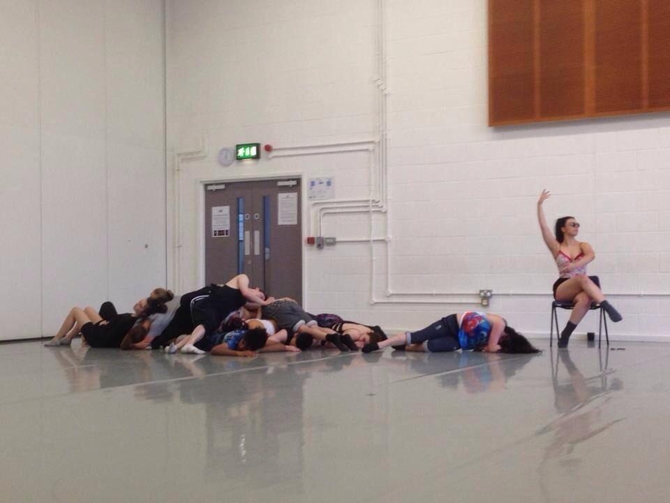 RDC Youth rehearsing Pons Guerra's  Costa del Sol  at DanceXchange. Photo: Simon Harper