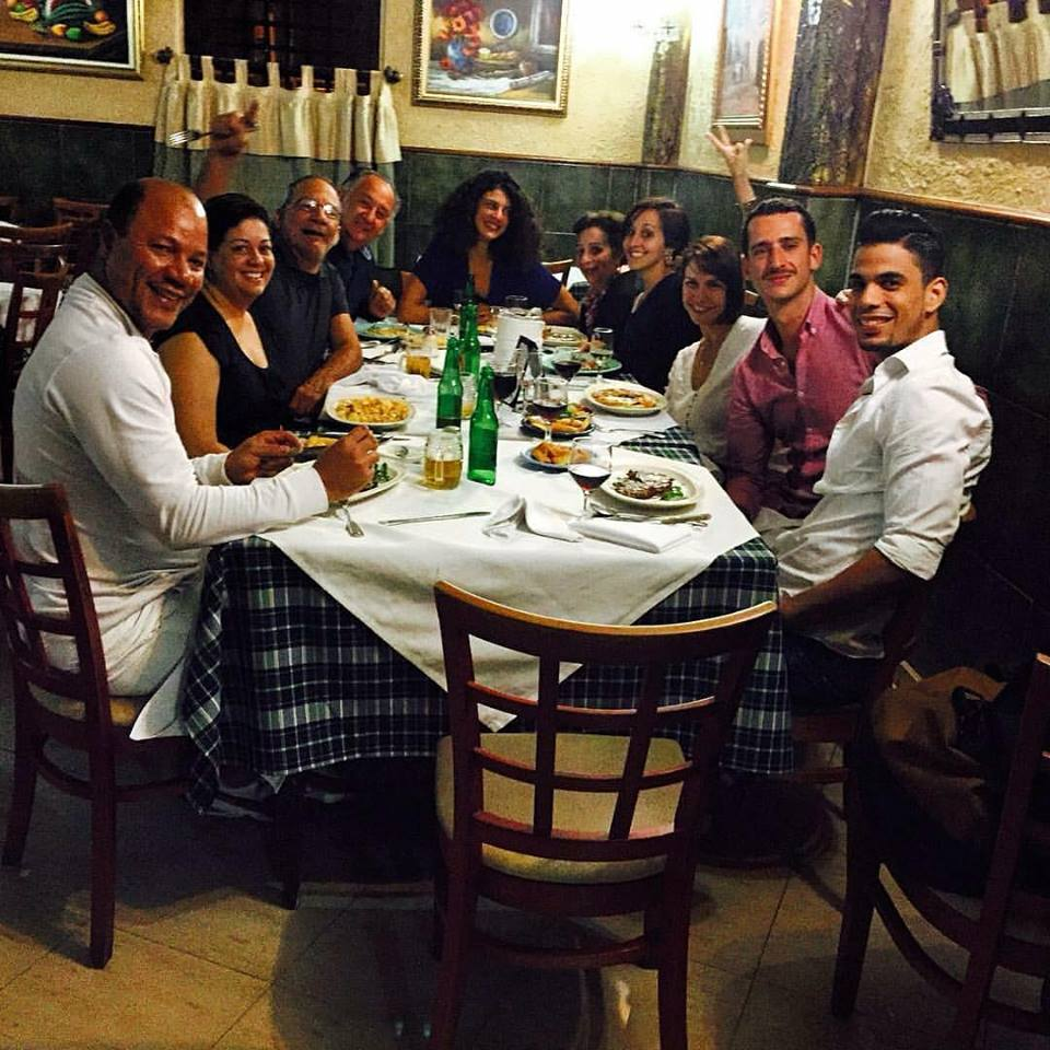 With my Dominican family- members of ENDanza's ballet staff, and fellow choreographers, at my good-bye dinner.