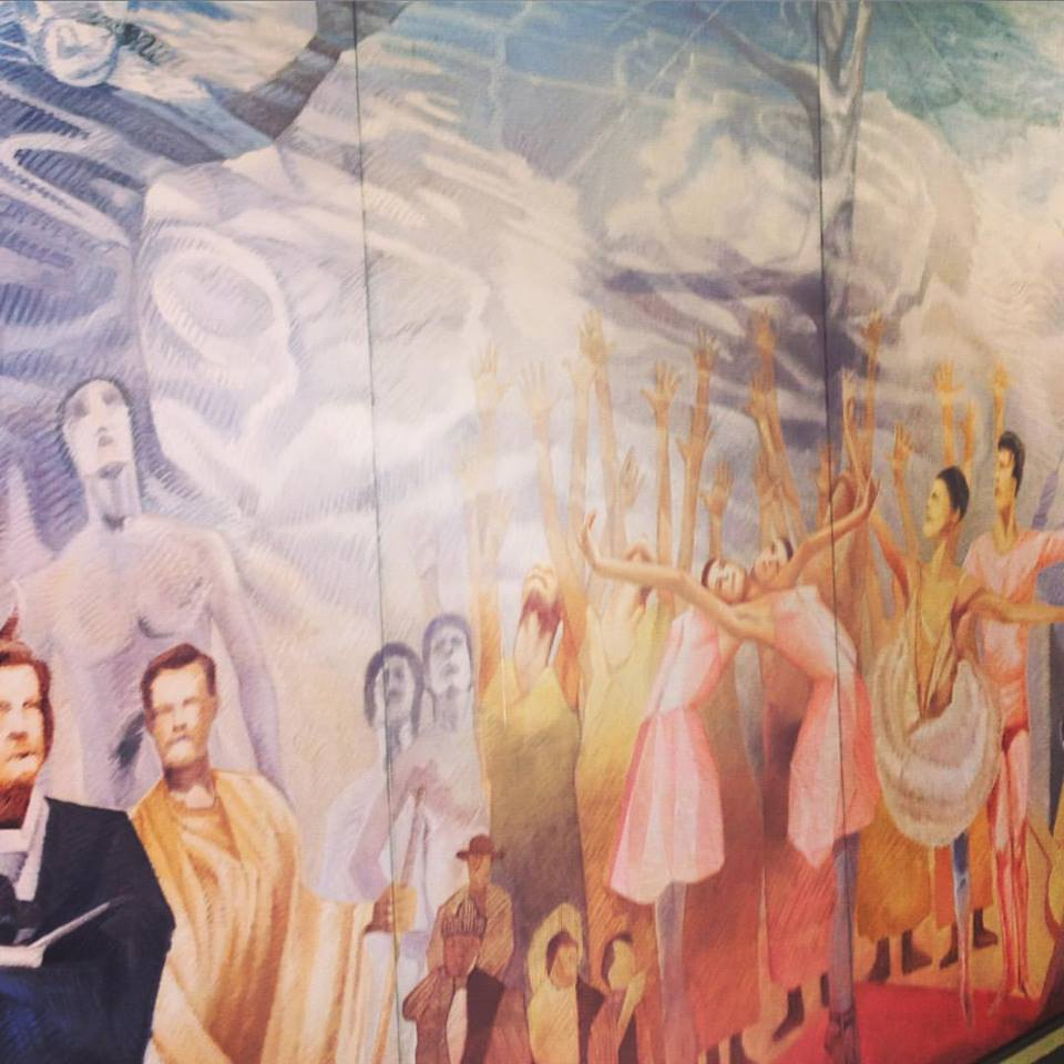 The mural in the hall of ENDanza
