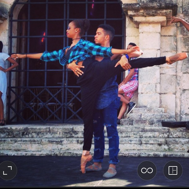 Rehearsing Stephanie Bauger's  Merengue  in Altos de Chavon