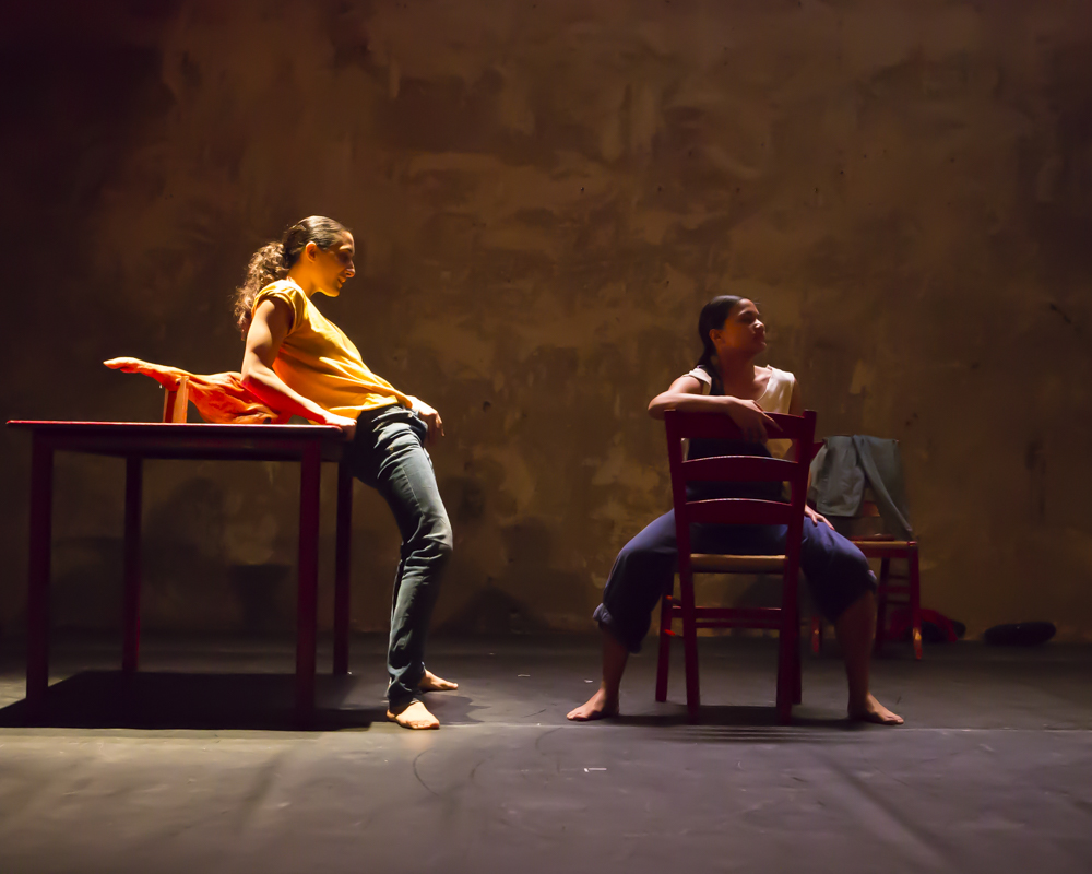 Antonette Dayrit and Marivi Da Silva in Young Man!, by Carlos Pons Guerra. Photo: Maria Falconer