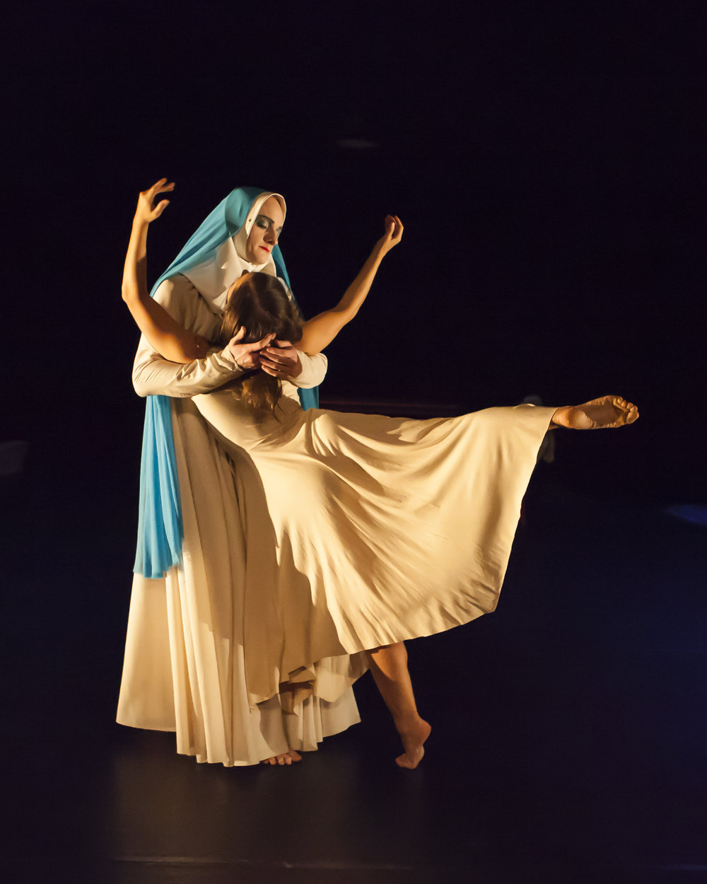 Phil Sanger and Azzurra Ardovini in Carlos Pons Guerra's O Maria. Photo: Maria Falconer