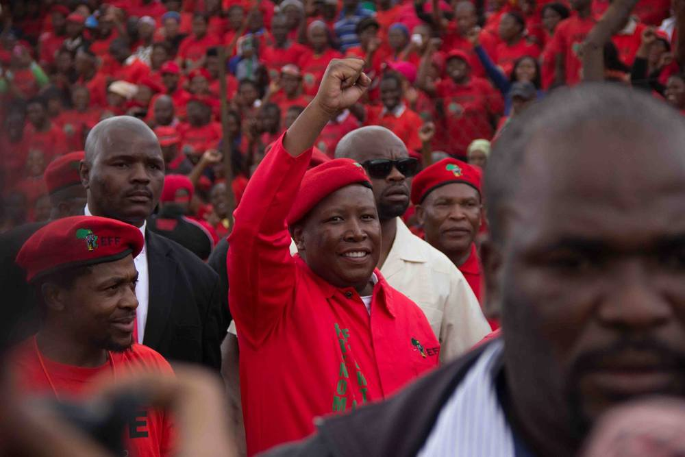 Julius Malema leader of the EFF in SouthAfrica