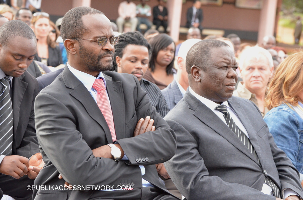 Douglas Mwonzora-MDC Spokesperson (Left)