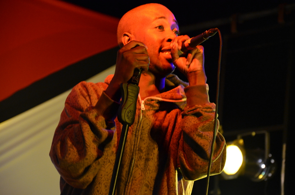The late MizChif, one of the pioneering hiphop artists in Zimbabwe, performing at Shoko 2011