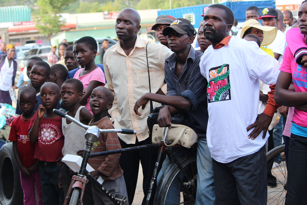 Members of the audience at a Zimbabwe Youth Festival event in Mtoko Zimbabwe.