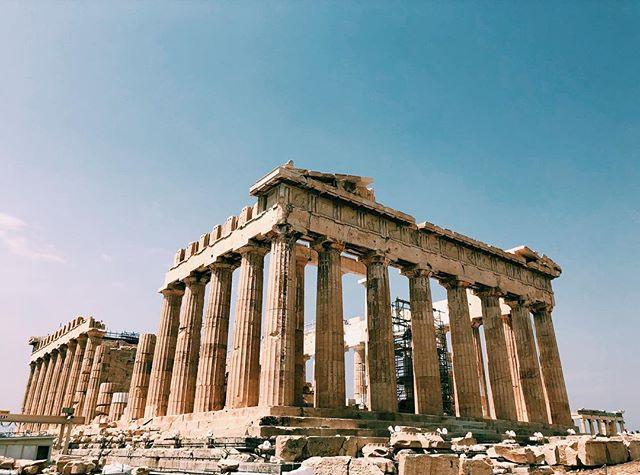 up close and personal w/ the parthenon ✨ . . . #athens #greece #acropolis #parthenon