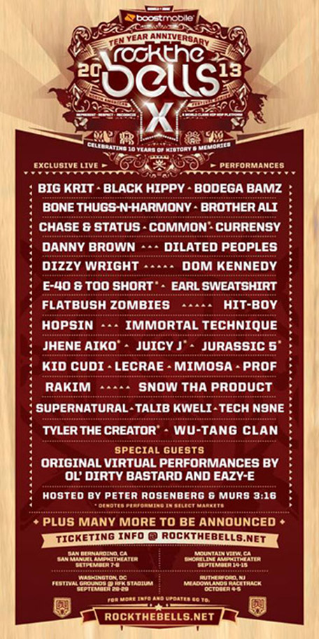thefuckshitmagnet :      smidgetz :     I need y'all to r e l a x   this is the real Rock The Bells lineup     Dear Jesus, please make a way. Thank you, Ki