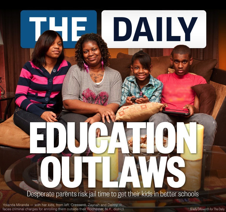 """thedailyfeed :     Three years ago, Yolanda Miranda spent the night in jail for grand larceny. Her crime? Stealing an education. She, like many other poor and single moms, is so desperate to  save her kids from failing schools  that she risked jail time to send them to a school district with higher standards.    """"If I had to do it again 10 times over, I would,"""" said Miranda, whose charges were later reduced to a misdemeanor after she pleaded guilty to offering a false instrument for filing, or essentially lying on school enrollment forms. """"You feel like you have to take things into your own hands. We have to do whatever we can to give our kids a chance."""""""