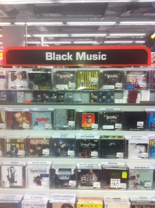 slystone :      sapphrikah :      ersal :     Excuse me, where's your black music?         No, but really, its so racist and sad that I laughed.     theres no such thing as black music.