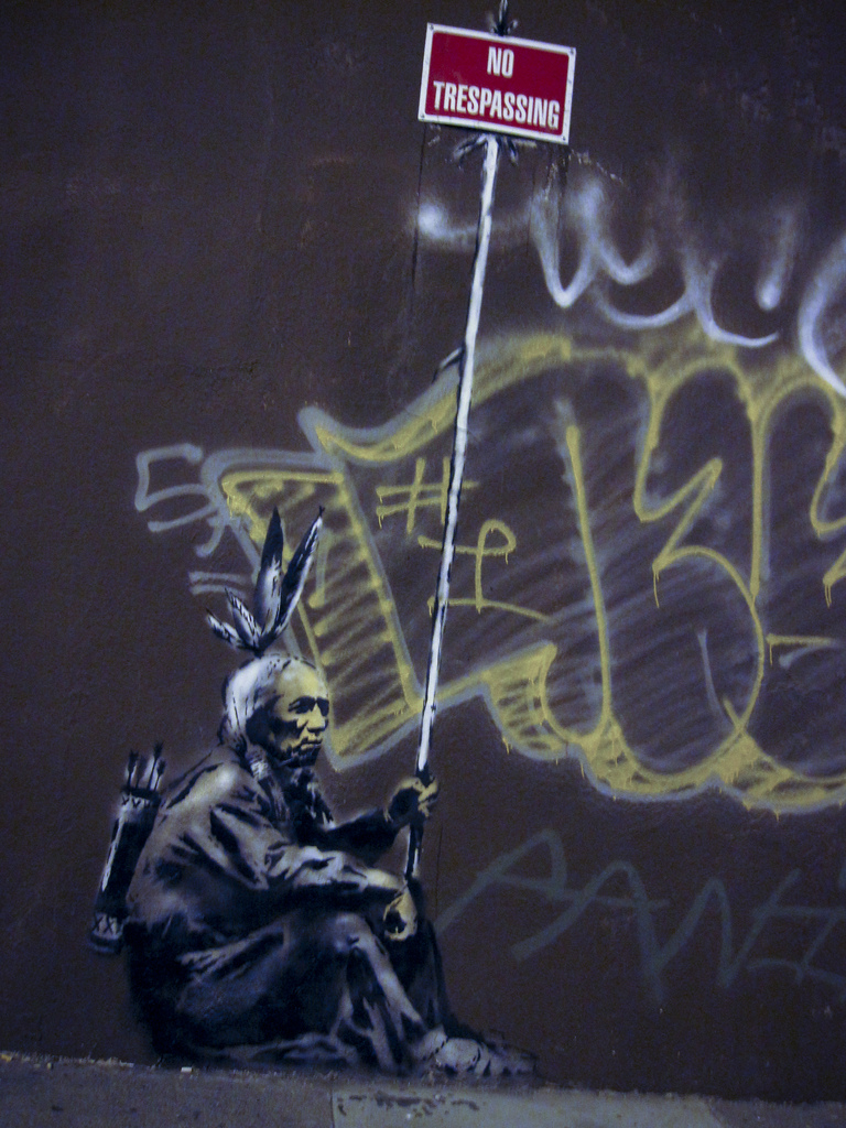 thedailywhat :      Street Art of the Day, Too:  More Banksy by the bay: Spotted in The Mission  on Sycamore .   [ flickrblog .]      Dope.