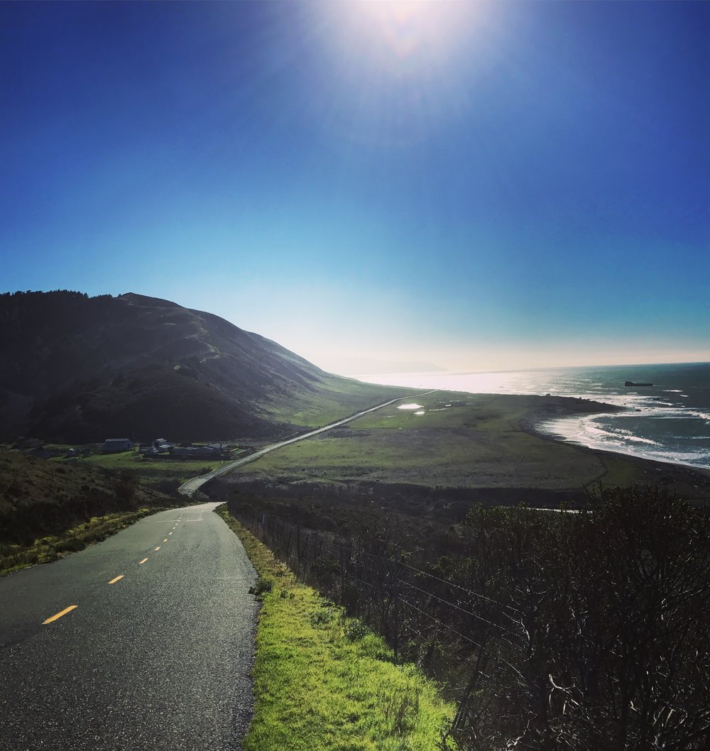 Road from Ferndale to Petrolia along the Lost Coast in California