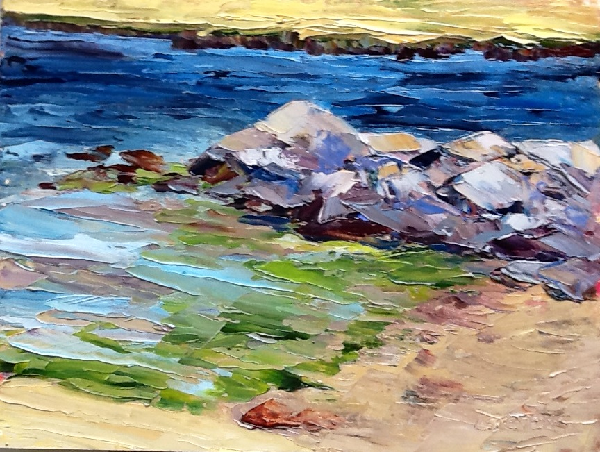 "Cindy Stevens' ""Rocks and Green Seaweed"""