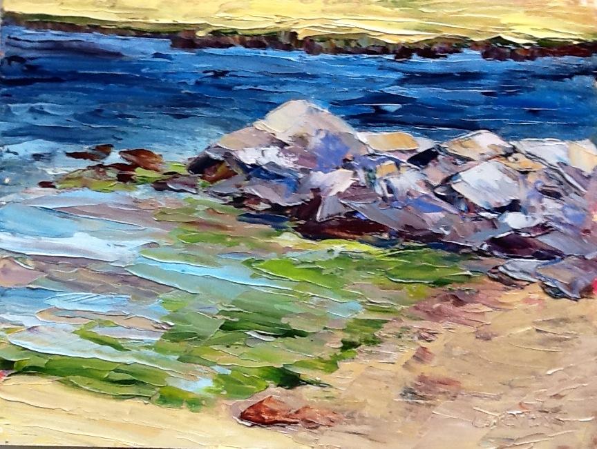 "Cindy Stevens' ""Rocks and Green Seaweed"""