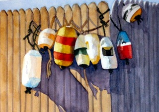 "Betty Taylor's ""Buoy's at Rest"""