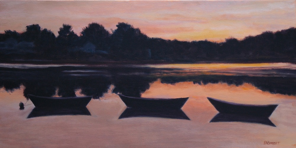 "Peter Barrett's ""Dories at Dusk"""