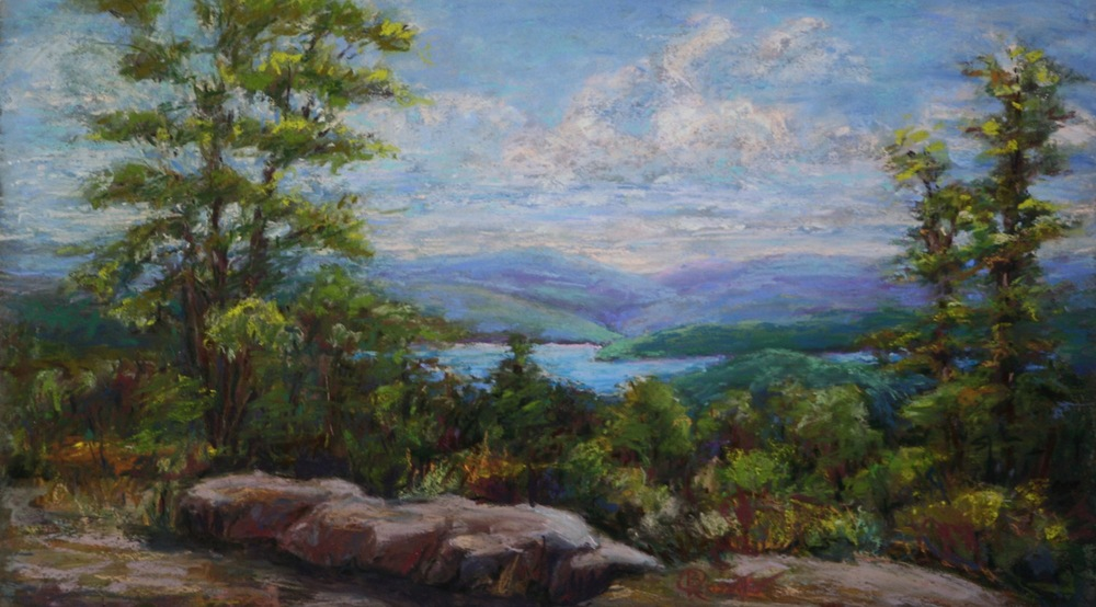 "Barbara Rossitto's ""Overlooking Lake Sunapee"""