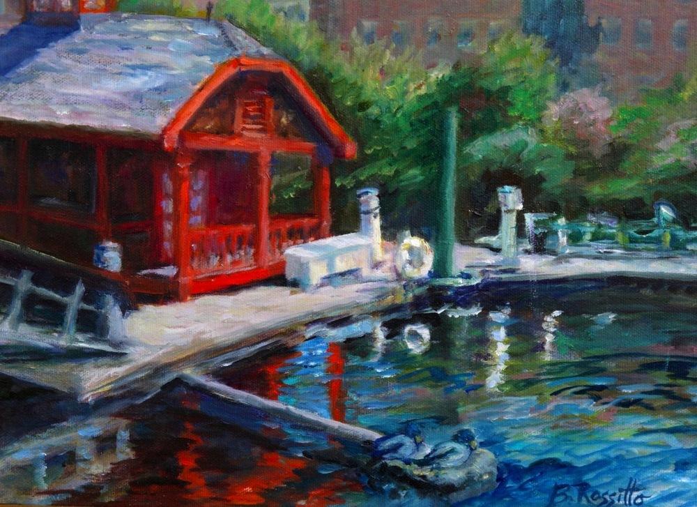 """Barbara Rossitto's """"Sunny Day, Norwich Marina"""""""