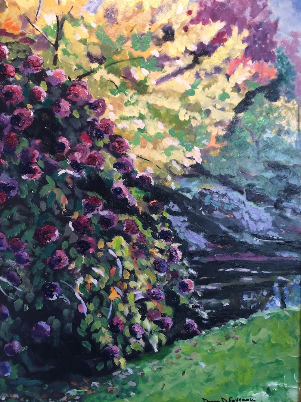 "Donna Dubreuil Favreau's ""Hydrangeas in the Park"""
