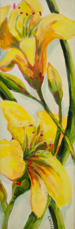 """Claudia Van Nes's """"Yellow Daylily"""""""
