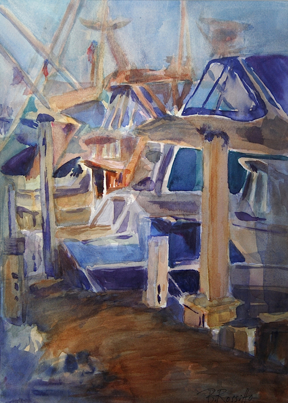 "Barbara Rossitto's ""Boats at Rest"""