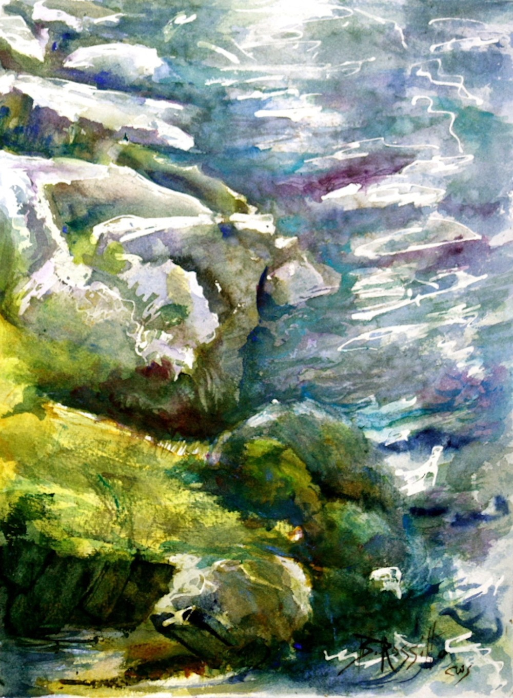 "Barbara Rossitto's ""Rocky Shore, Salmon River"""