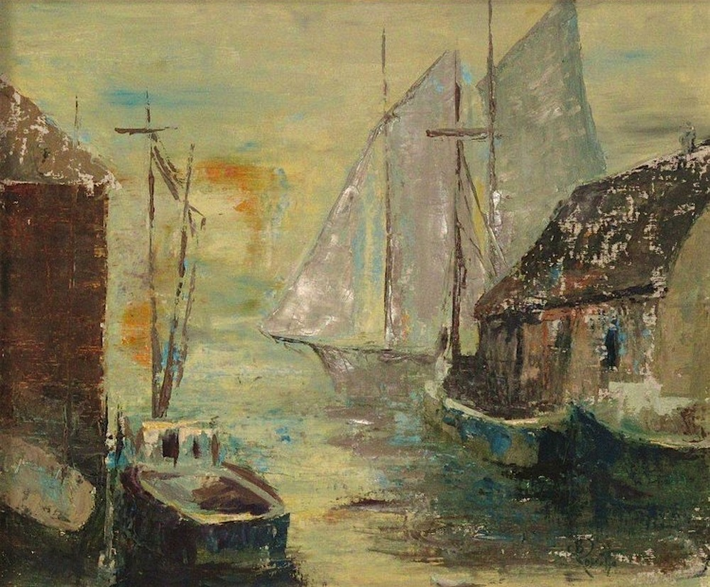 "Barbara Rossitto's ""Schooner in the Harbor"""