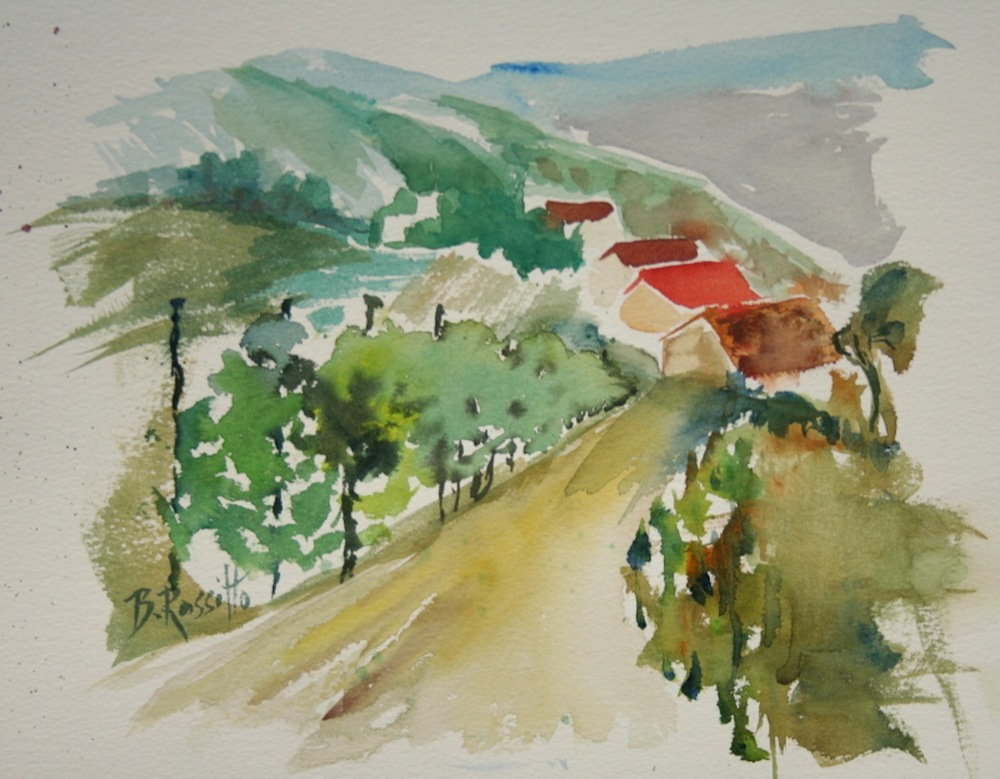 "Barbara Rossitto's ""Simplicity Vineyard Scene"""