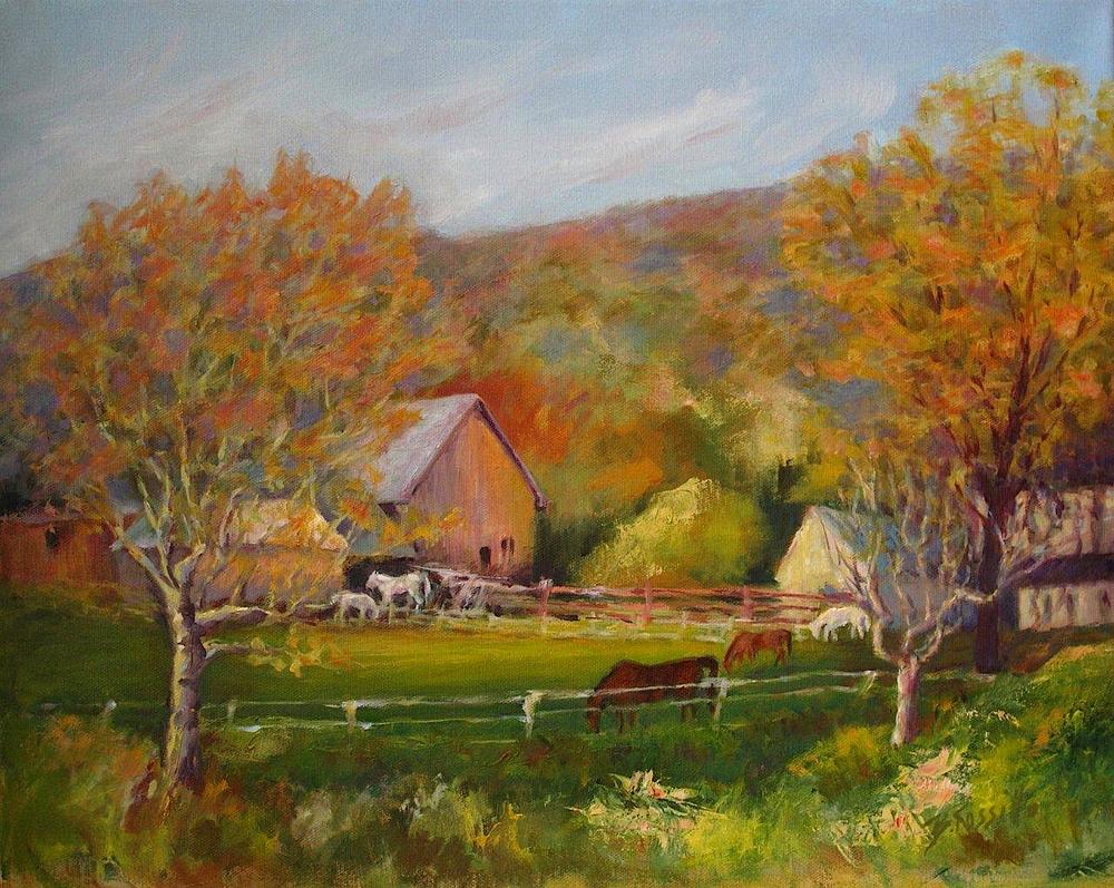 "Barbara Rossitto's ""Spring Across Mitchell's Pond"""