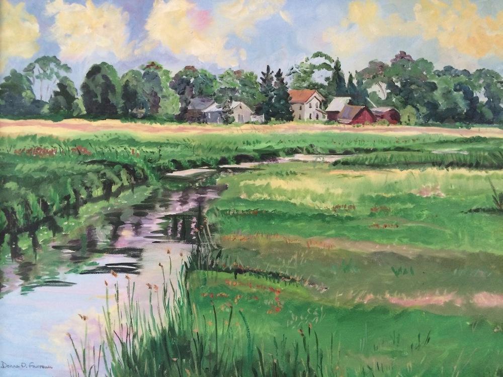 """Donna Dubreuil Favreau's """"Causeway Marsh"""""""