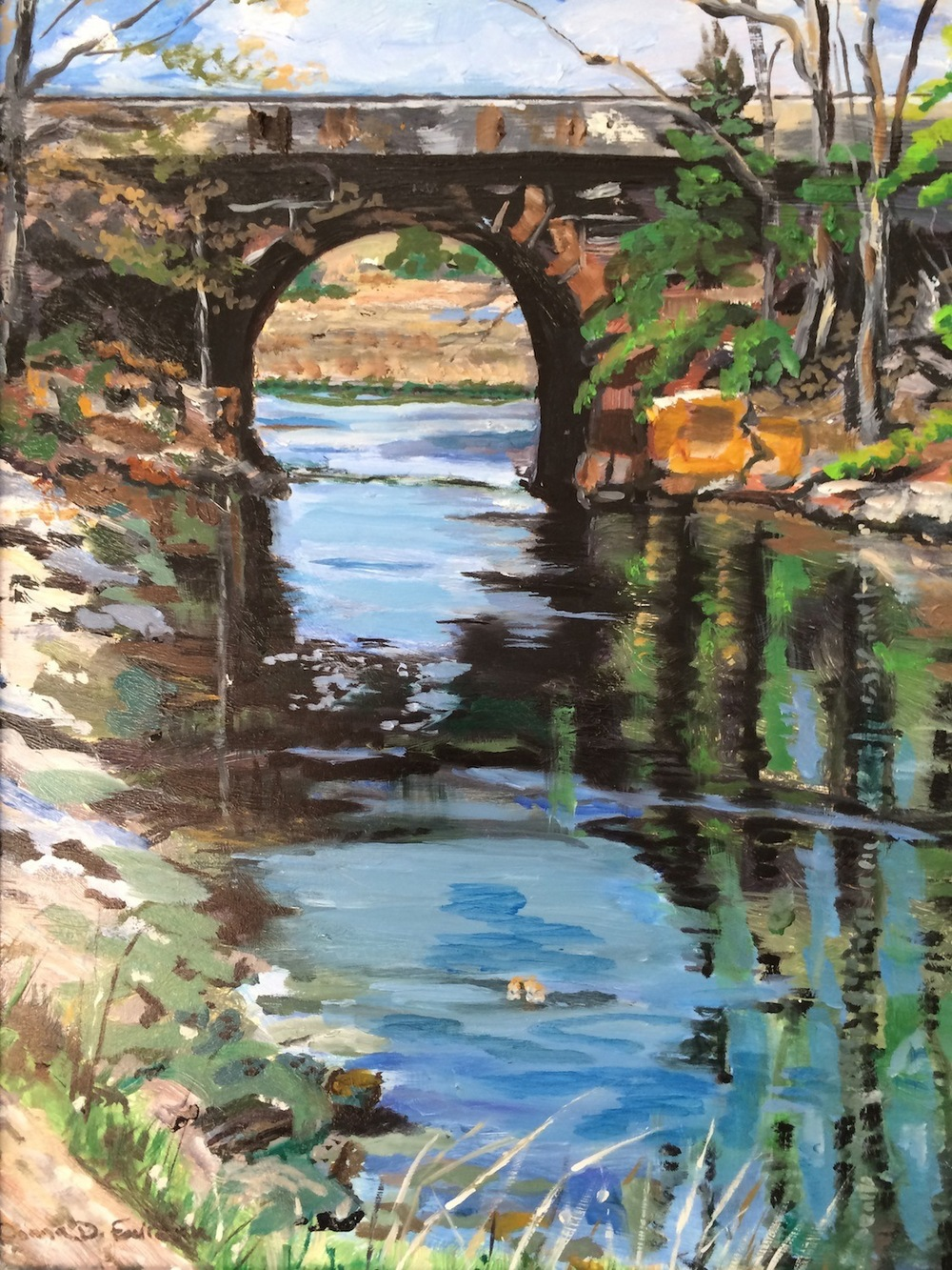 "Donna Dubreuil Favreau's ""Indian River Railroad Bridge"""