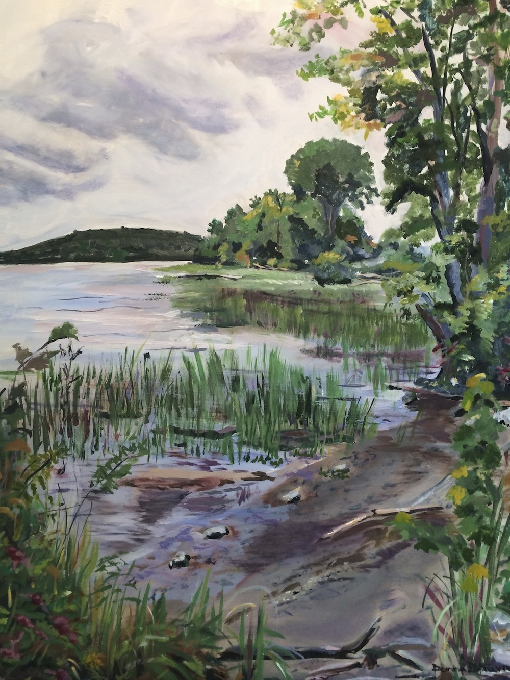 "Donna Dubreuil Favreau's ""Serenity, Connecticut River at Chester"""