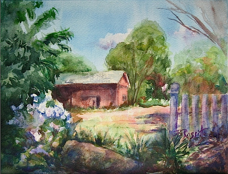 """Barbara Rossitto's """"Glastonbury Barn"""""""