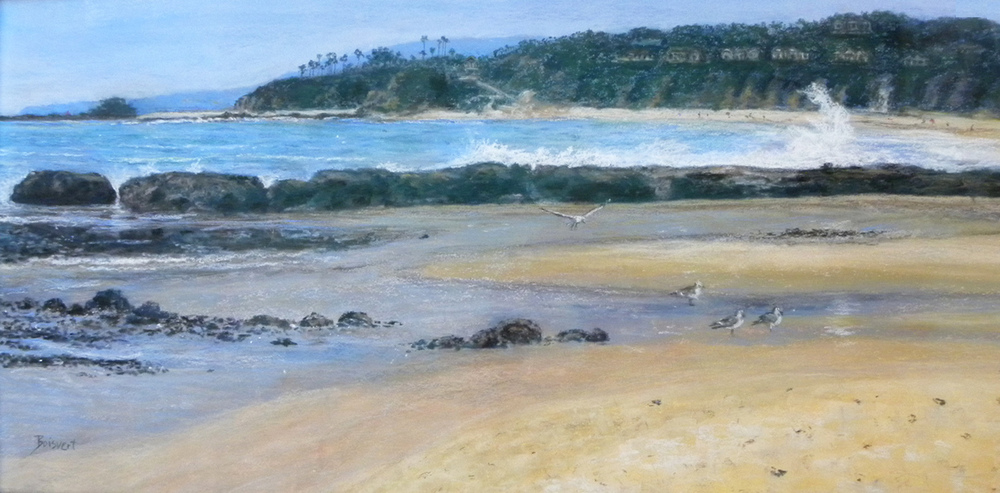 "Linda Boisvert DeStefanis' ""Ah, Life on the Beach (pastel)"""