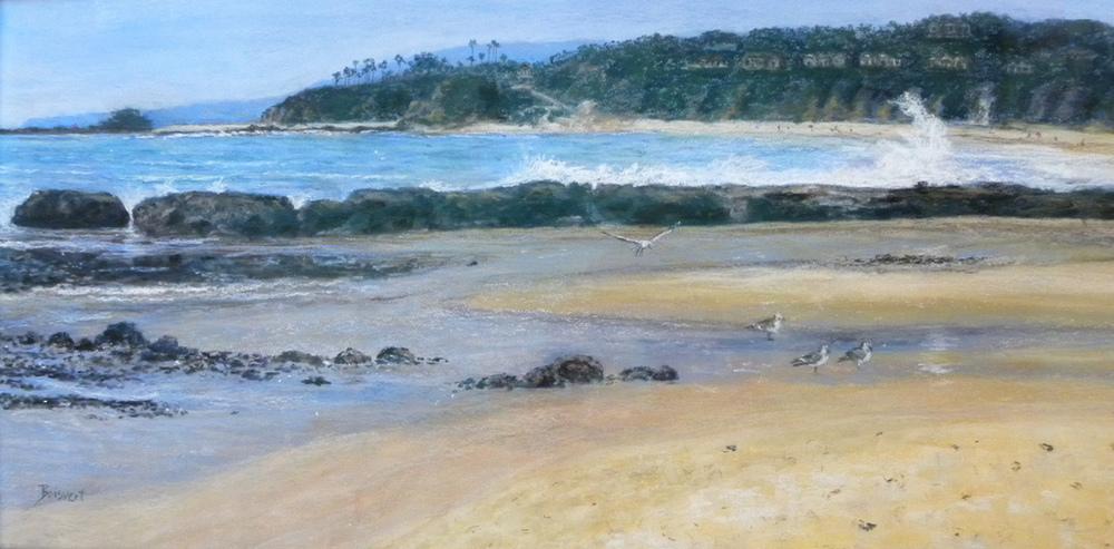 "Linda Boisvert DeStefanis' ""Ah, Life on the Beach (pastel)"""