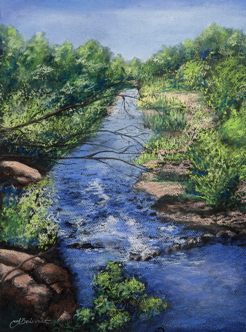 "Linda Boisvert DeStefanis' ""Determined Stream"""