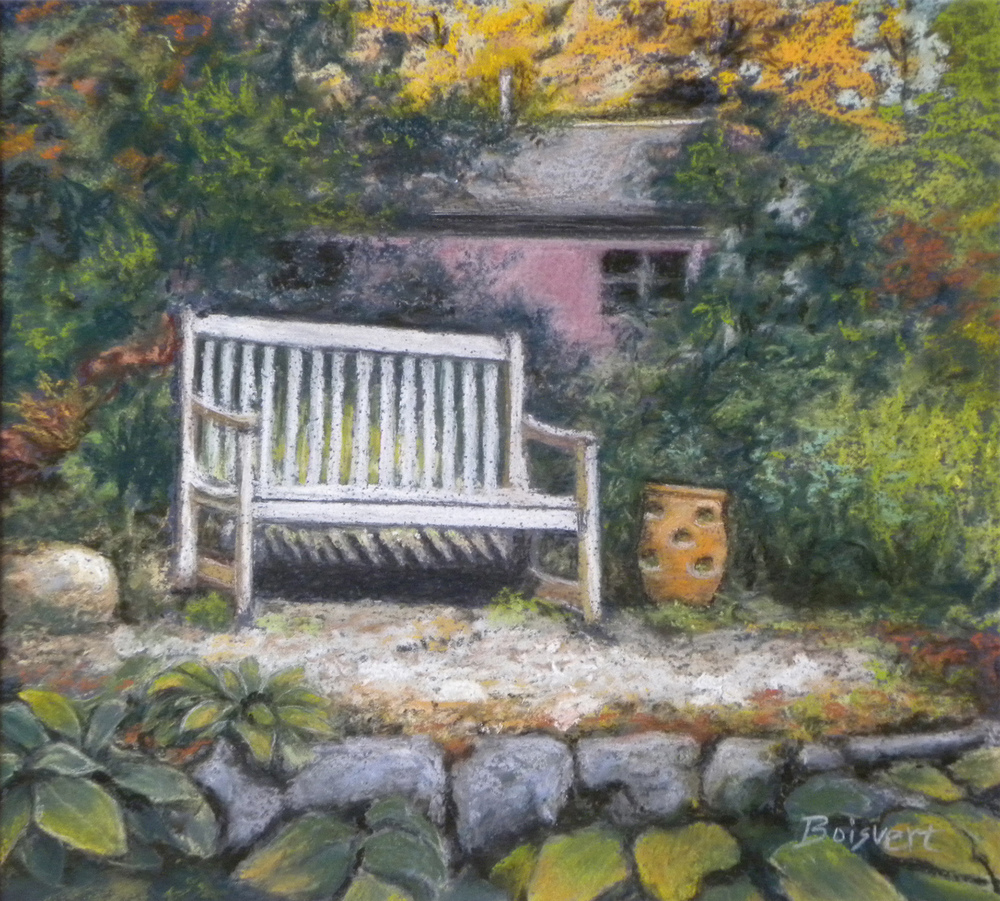 "Linda Boisvert DeStefanis' ""Serenity at the Vineyard"""