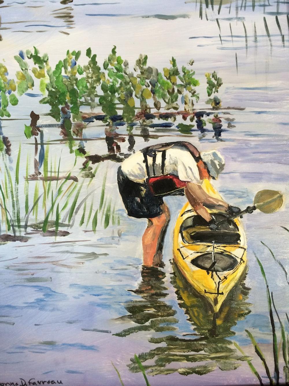 """Donna Dubreuil Favreau's """"The Kayaker"""""""