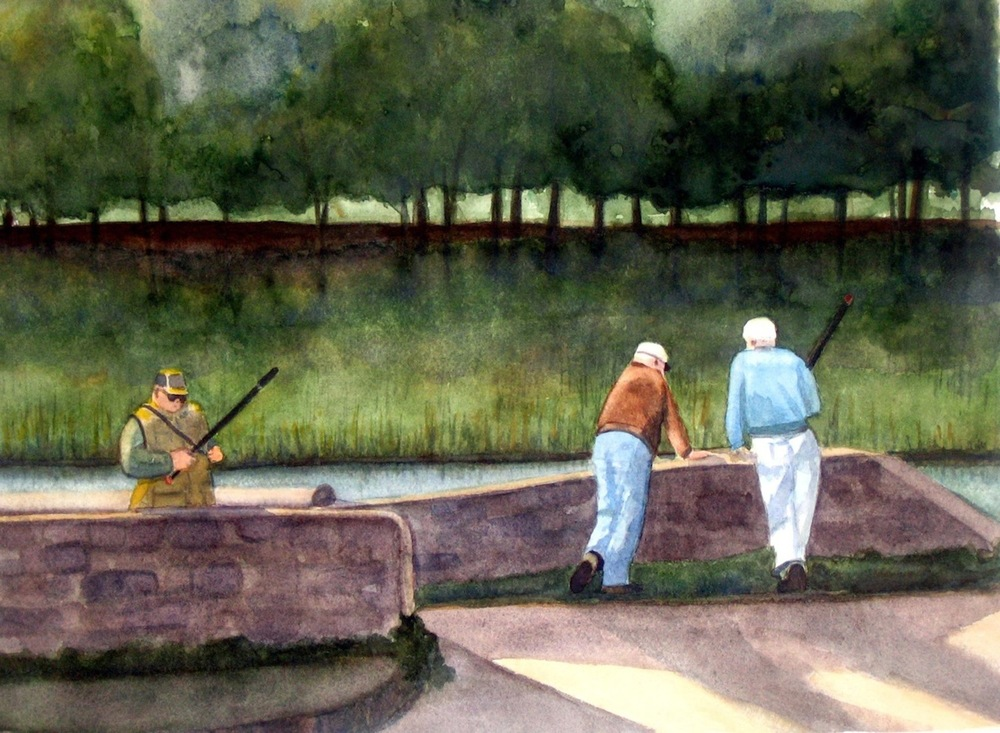 """BL Taylor's """"Fishermen at the Quay"""""""
