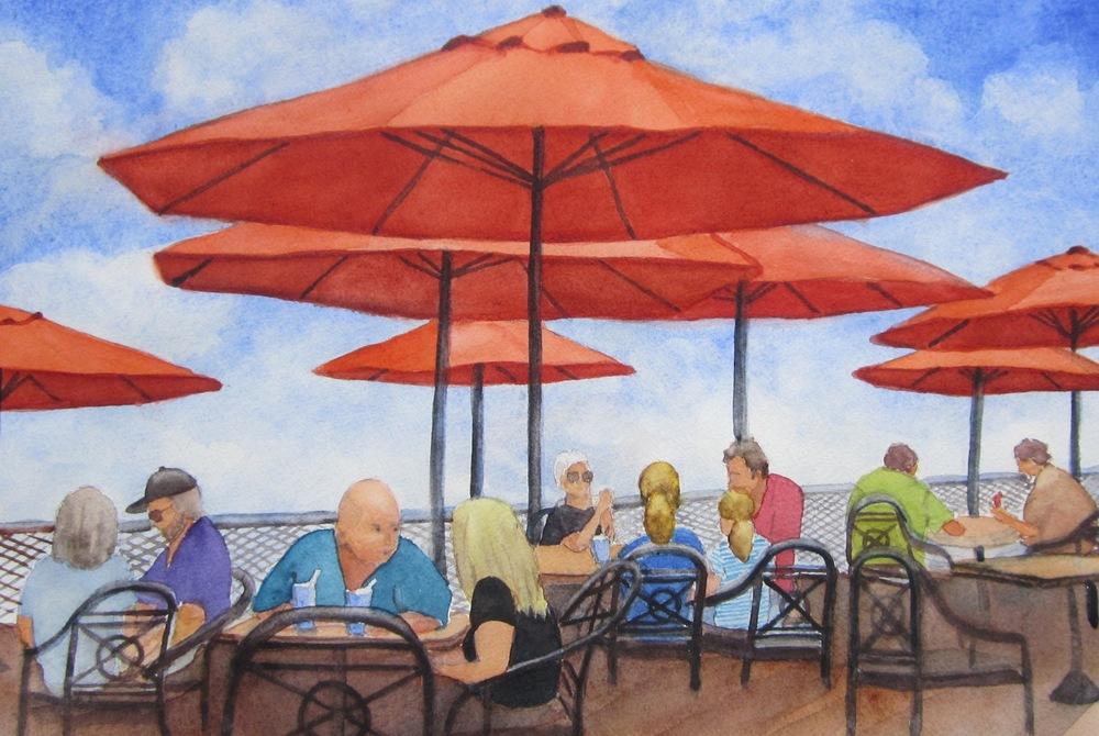 "B. L. Taylor's ""Orange Umbrellas"""