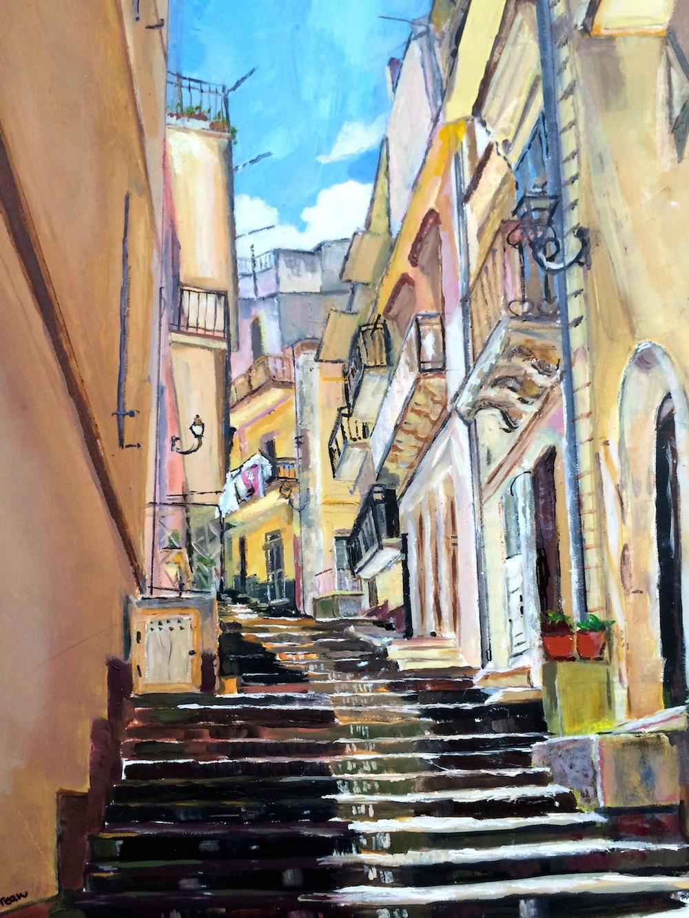 "Donna Dubreuil Favreau's ""Via Foscari, Melilli"""