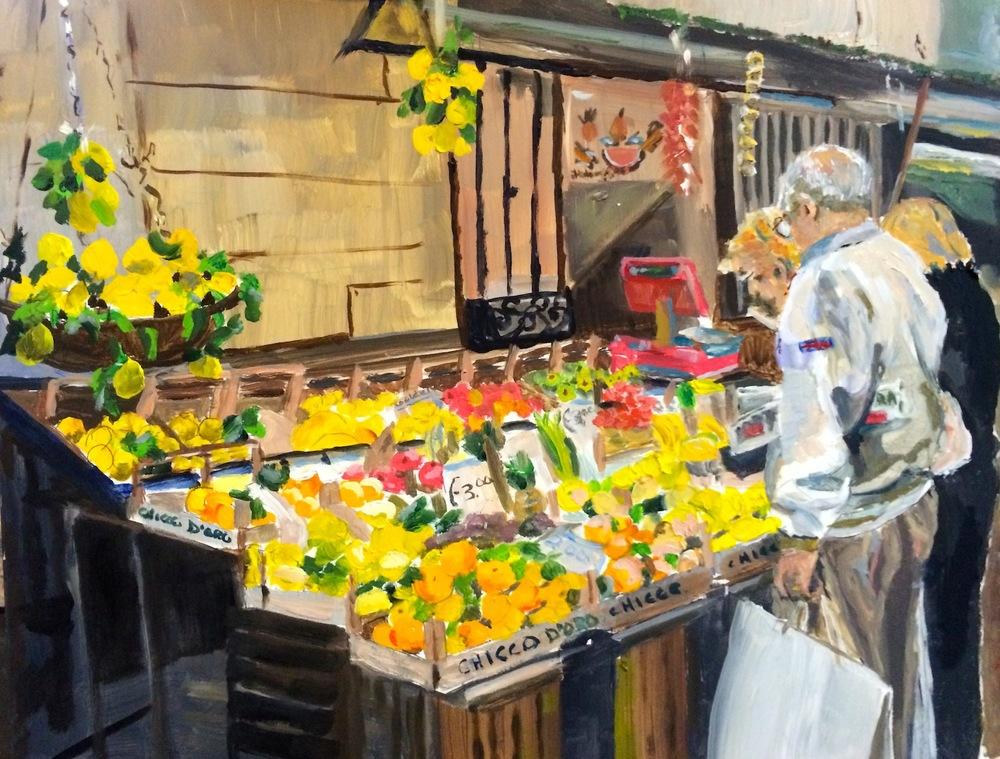 "Donna Dubreuil Favreau's ""Catania Fruit Stand"""