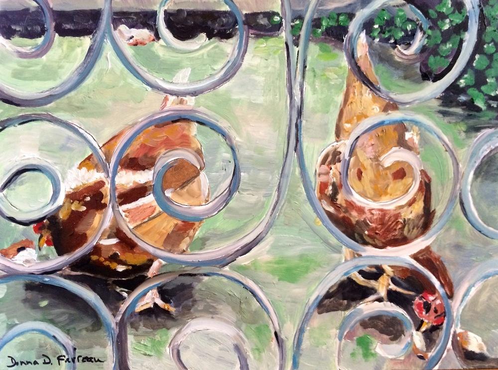 "Donna Dubreuil Favreau's ""Sicillian Chickens"""