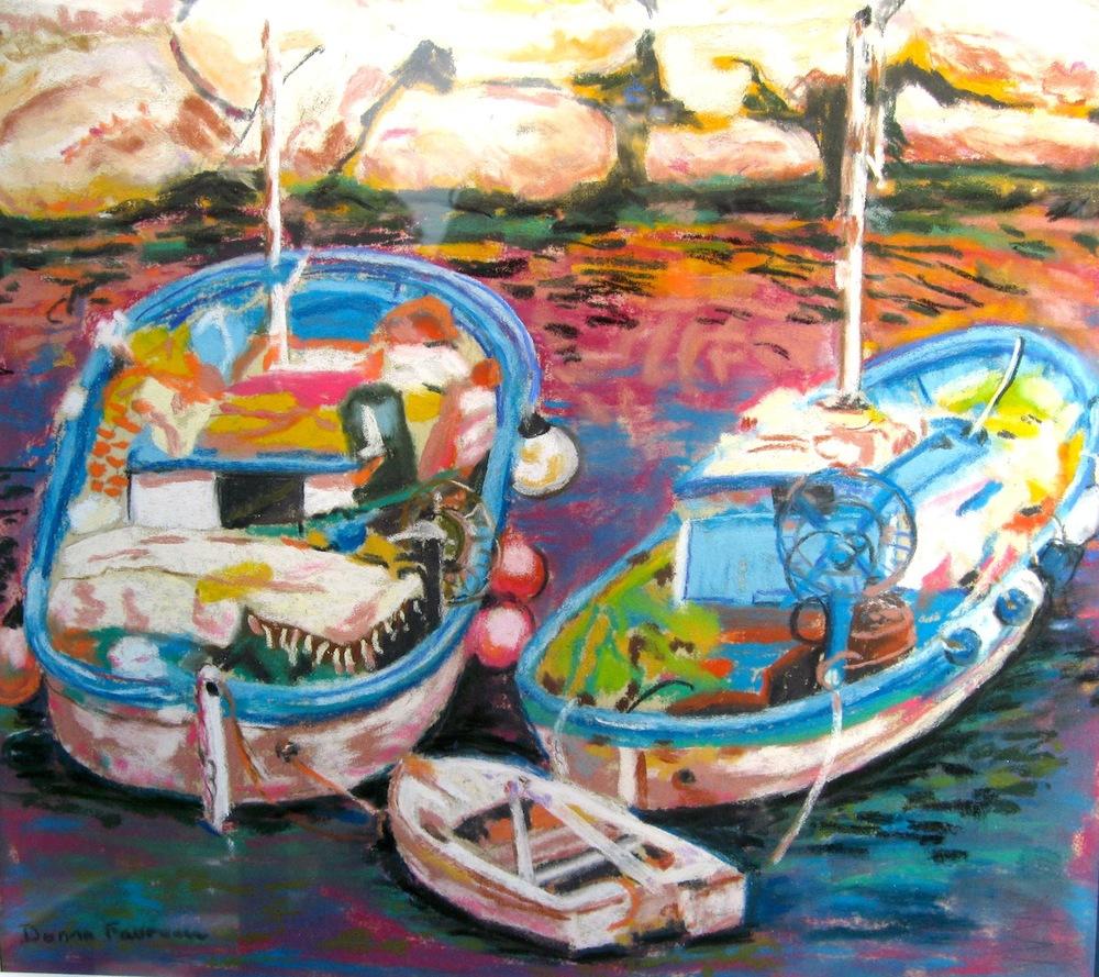 "Donna Dubreuil Favreau's ""Sorrento Fan Boats"""