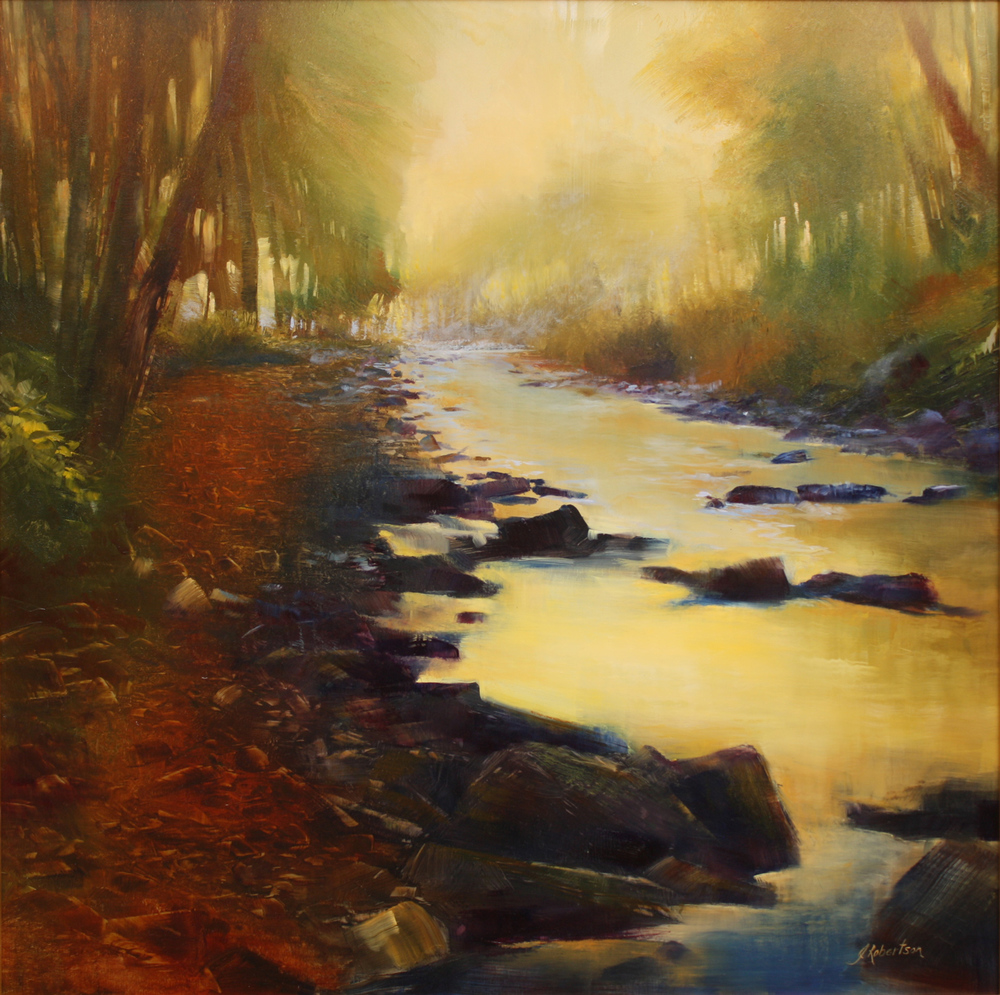 "Janine Robertson's ""Morning Light at River's Edge"""