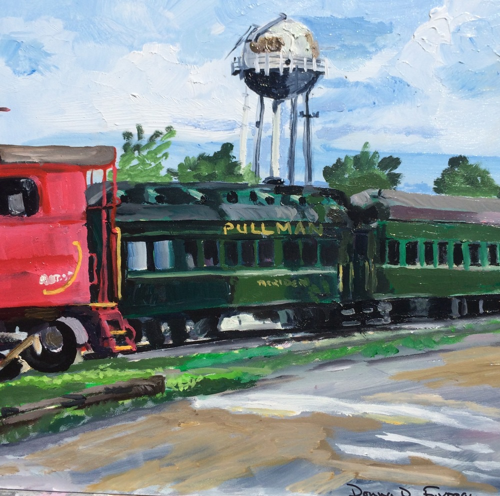 "Donna Dubreuil Favreau's ""Essex Steam Train Station"""