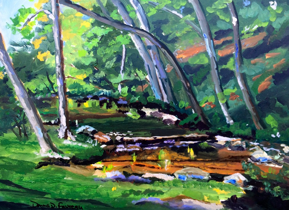 "Donna Dubreuil Favreau's ""Wooded Stream"""
